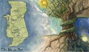 An illustration from Kristen Thompson's novella A Tree Awakens
