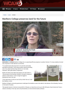 Screenshot of WCAX Article