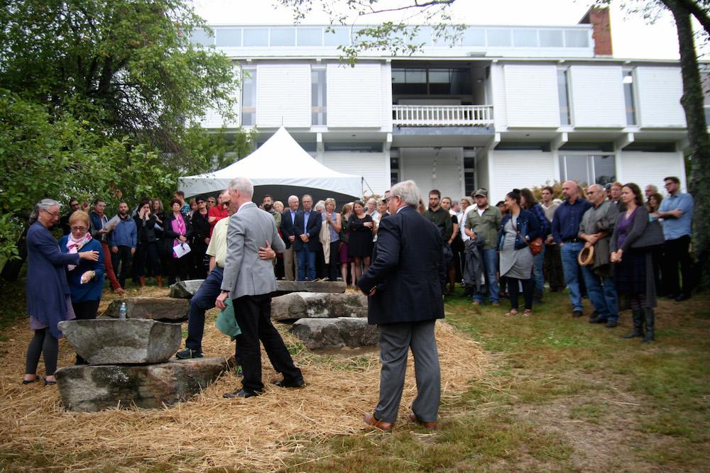 Group of people attending Lucy DeLaurentis's Memorial