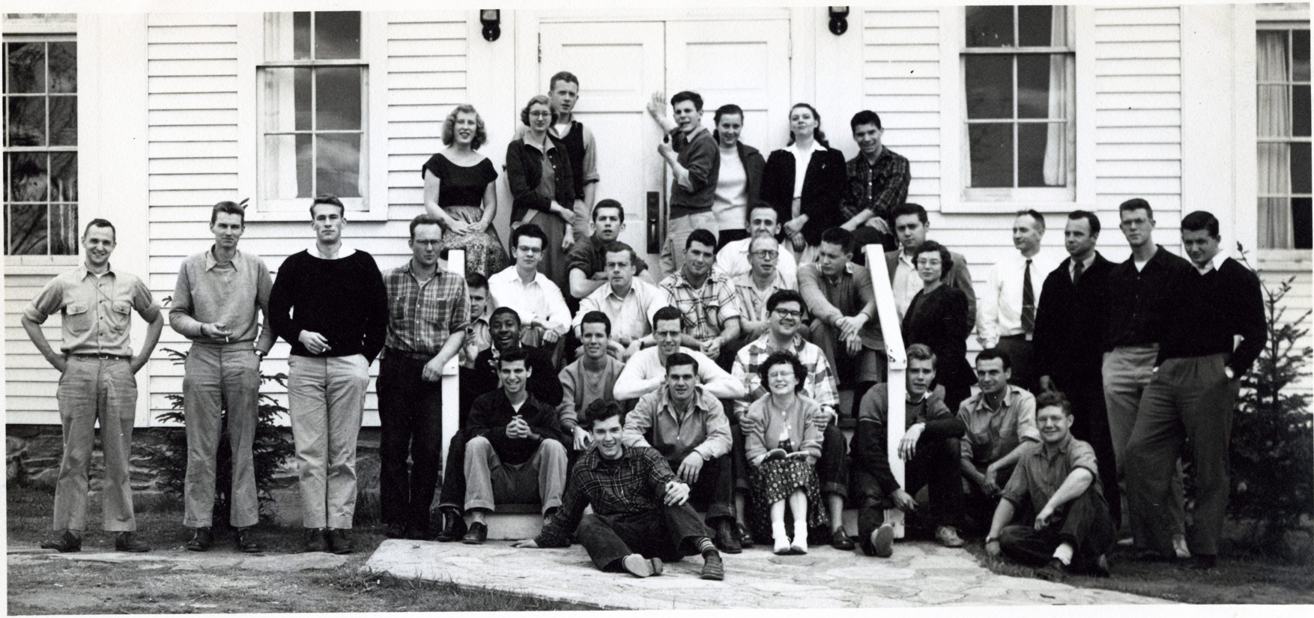 Group in front of Marlboro