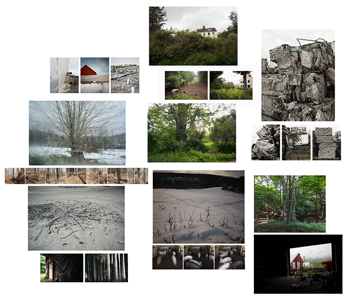 Collage of multiple different images of nature and rocks