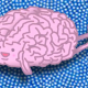 Clipart of smiling brain with hands and legs