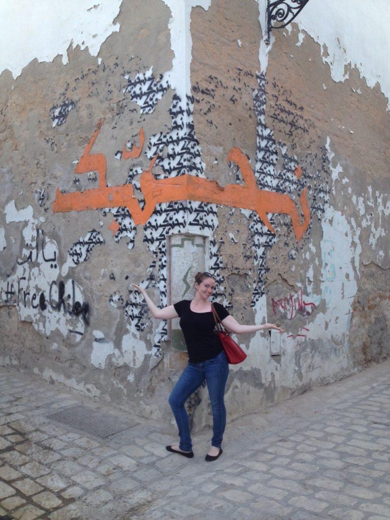 Amelia in Tunisia during her internship.
