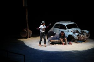 The set for Didi and Gogo, an adaptation of Waiting for Godot.