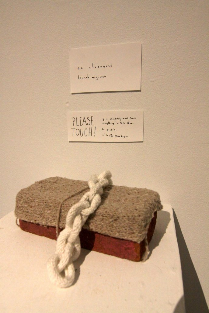 """A detail from Hannah McGowan's Plan show titled """"On Closeness."""""""
