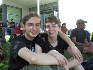 Stefan Walcerz and friend Skyler Miller.