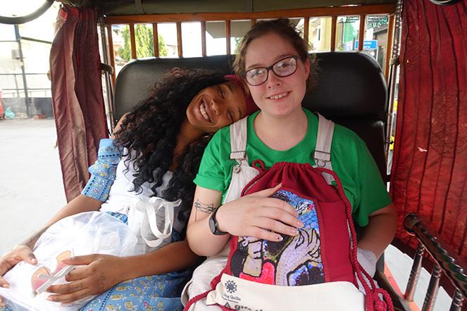 Moon Livingston and Jadian Bryan in Cambodia.