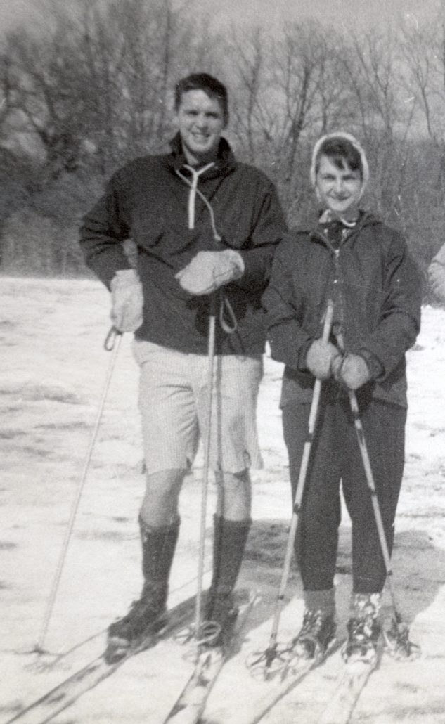 Bruce and Barbara Cole wearing skis