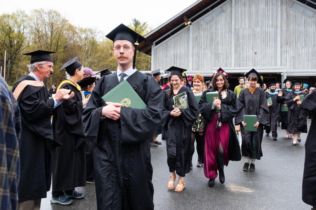 Recent graduates leave the 2019 ceremony