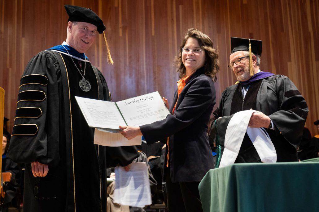 Melany Mason receives degree