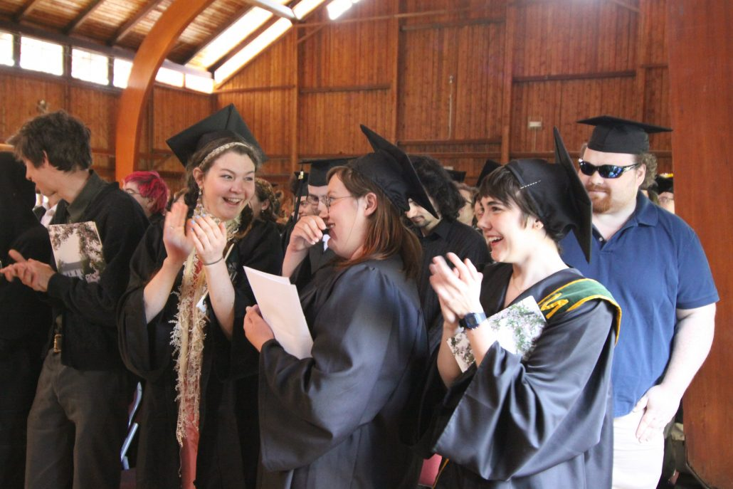 Recent graduates applaud