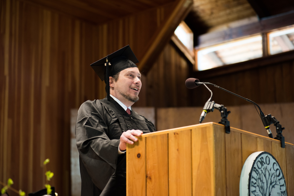 Michael Auerbach delivers remarks