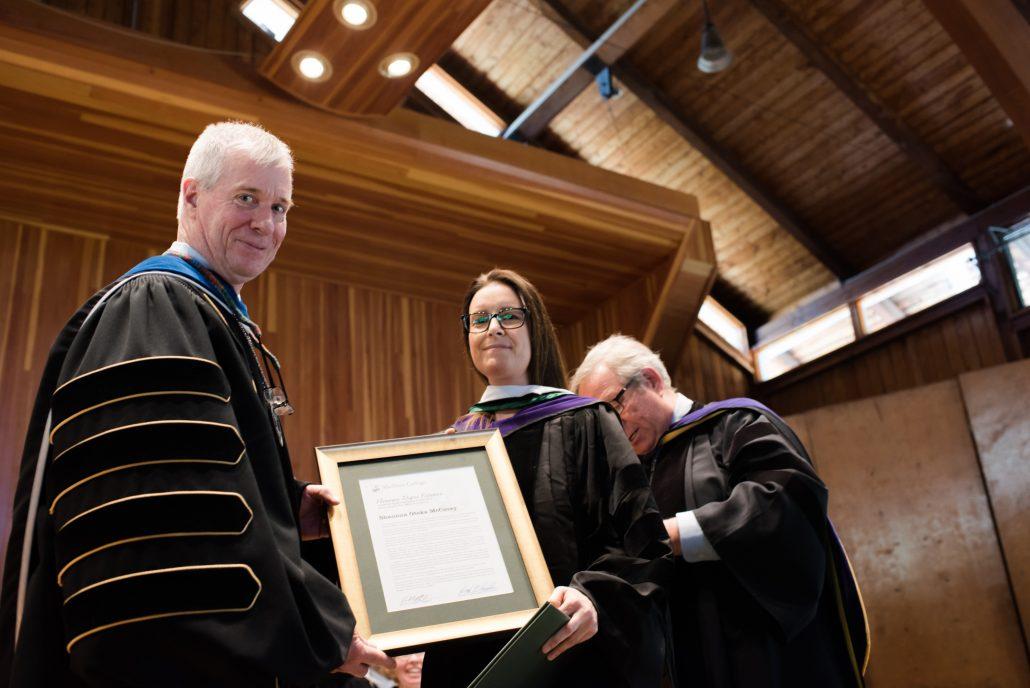Shaunna Oteka McCovey receives honorary degree