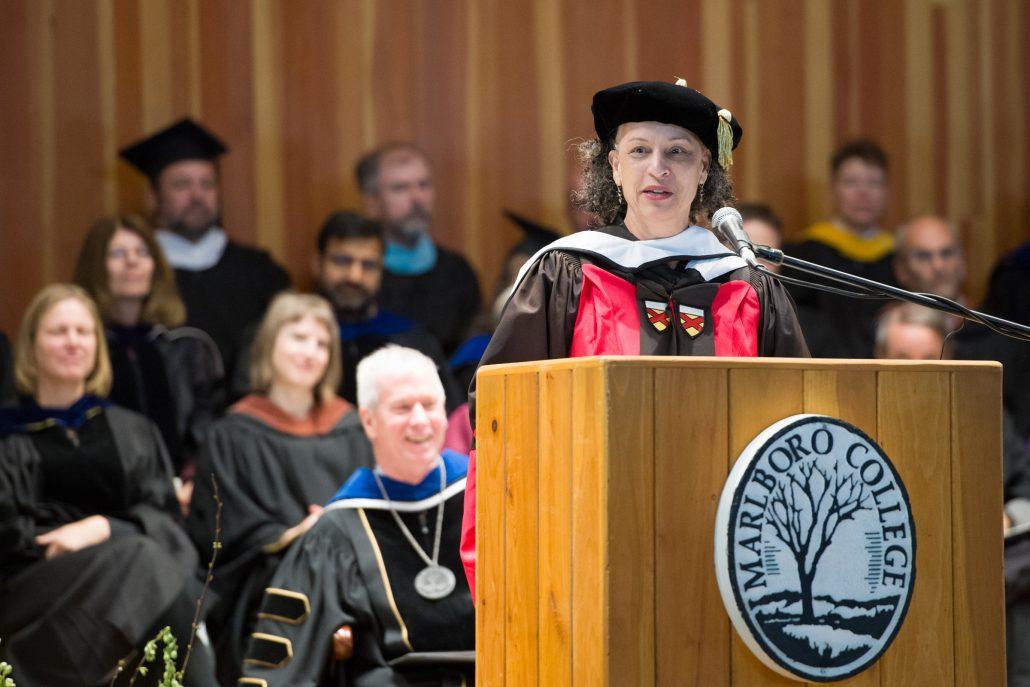 Gretchen Holbrook Grezina delivers remarks