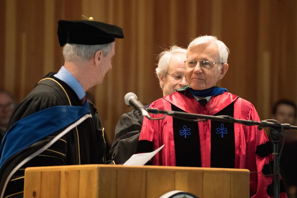 Robert Gard receives honorary degree
