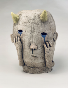 Crying sculpture