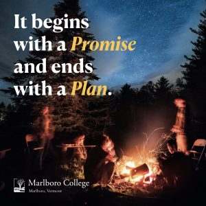"""Brochure that reads """"It begins with a Promise and ends with a Plan"""""""