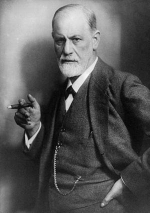 black and white photo of Sigmund Freud