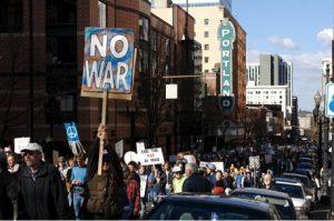 """""""No War"""" Protest"""