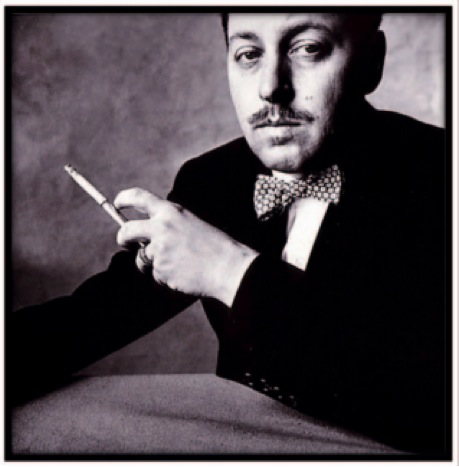 Image of Tennessee Williams smoking a cigarette
