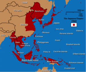 Map of eastern asia