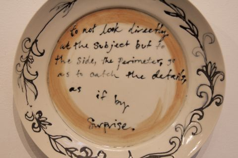 plate with writing
