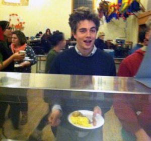 Kid at midnight breakfast